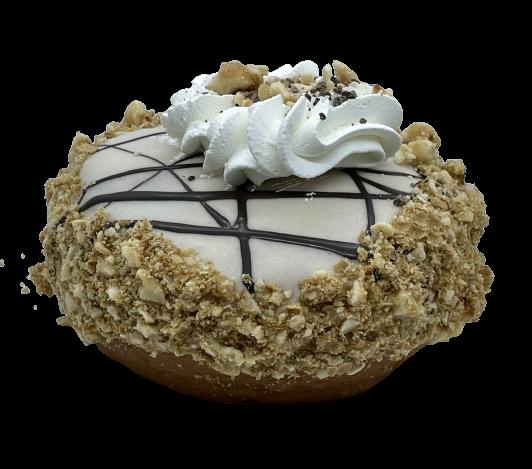 White Chocolate Kinder donut vegano