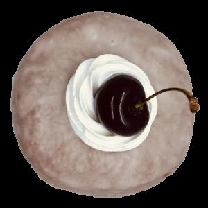 Donut Cereza y Amaretto vegano