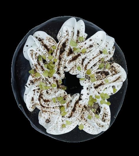 Donut menta y chocolate vegano