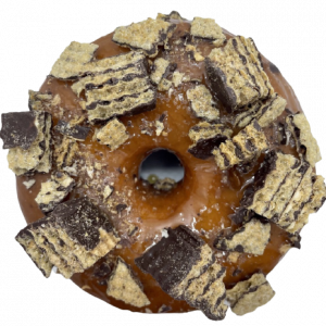 Donut vegano caramelo y huesito
