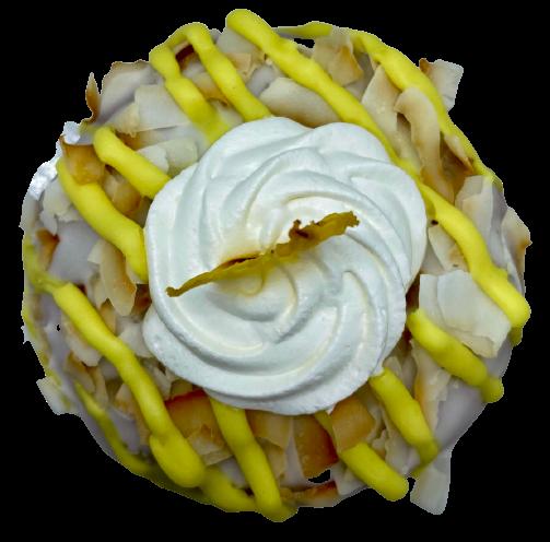 Donut vegano de piña colada